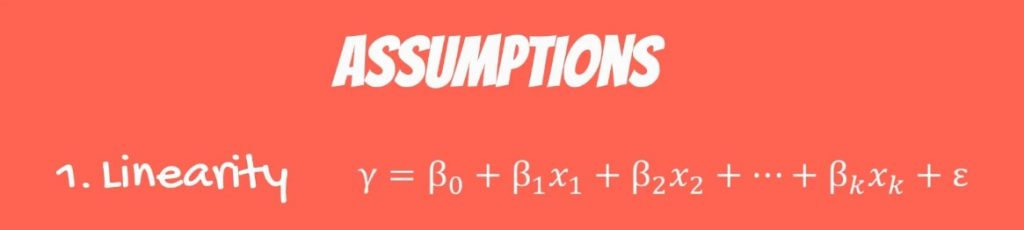 The First OLS Assumption: Linearity formula