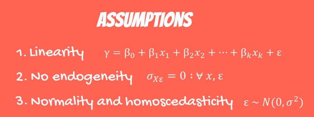 The Third OLS Assumption: normality and homoscedasticity formula