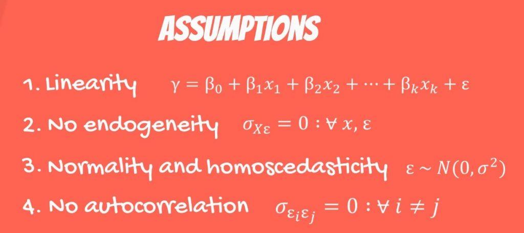 The Fourth OLS Assumption: no autocorrelation formula