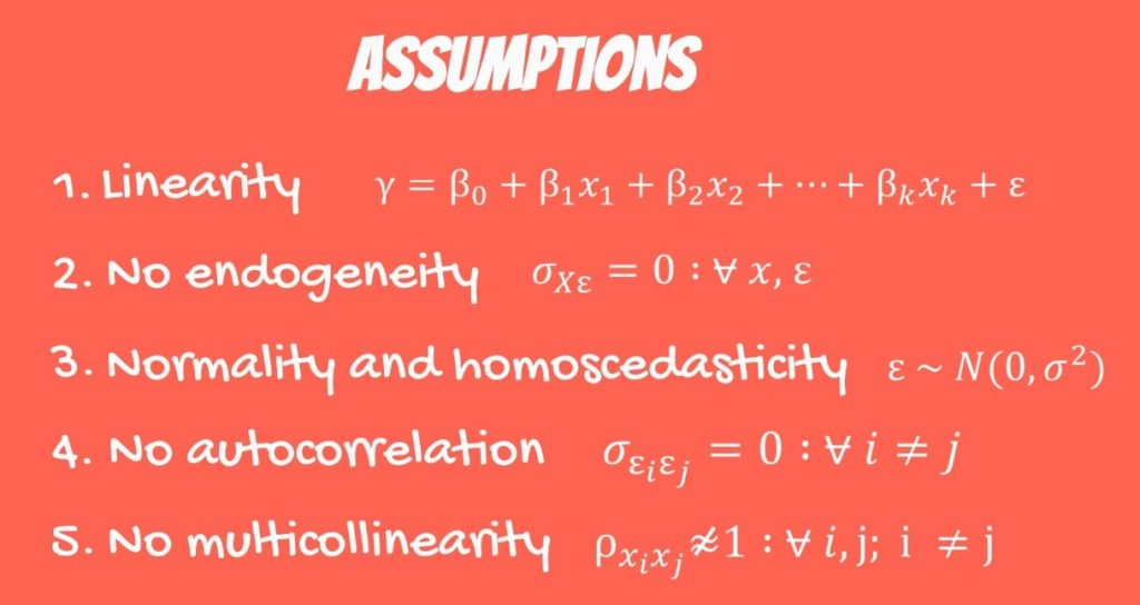 The Fifth OLS Assumption: no multicollinearity formula