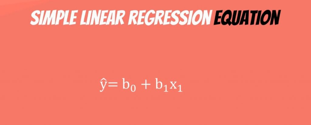 ŷ = β0+ β1* x, linear regression