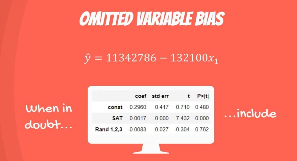 Omitted Variable Bias: proper inclusion of variables