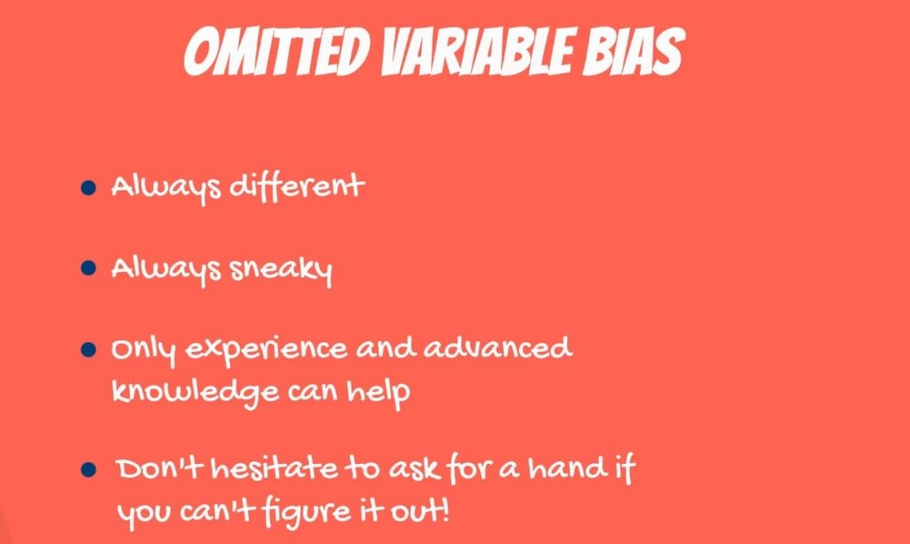 Omitted variable bias: characteristics
