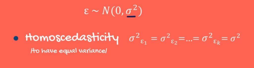 Homoscedasticity formula and definition