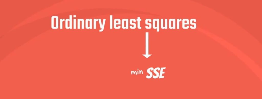 Example of Ordinary Least Squares: Least squares stands for the minimum squares error - SSE