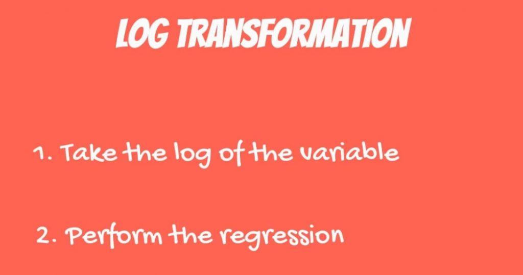 Preventing heteroscedasticity through log transformation