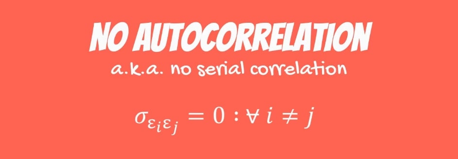 No autocorrelation formula