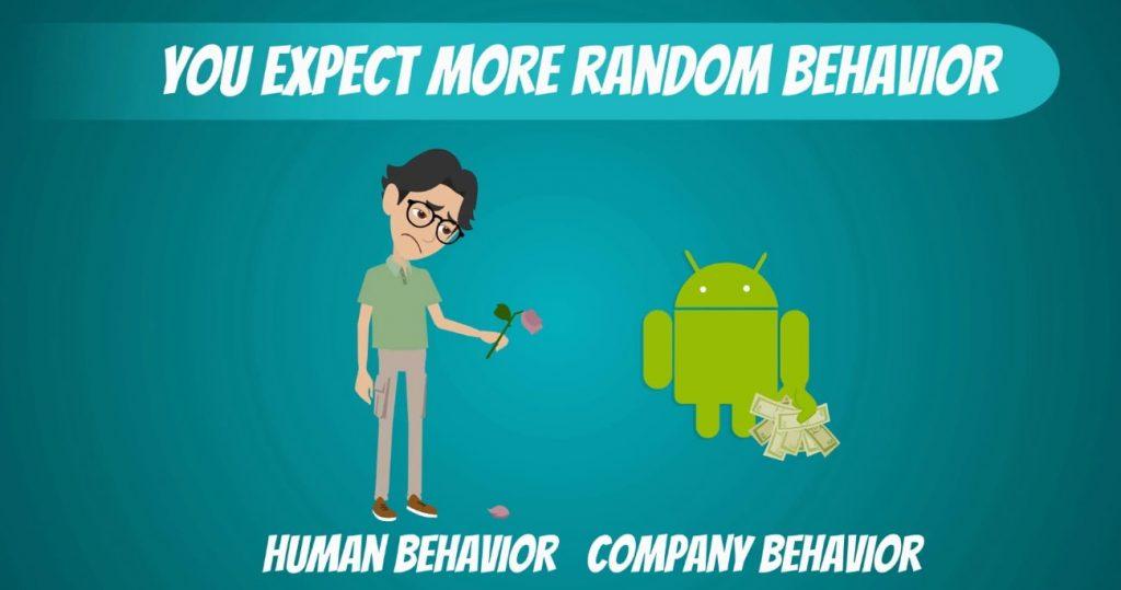 You expect more random behavior, significance level