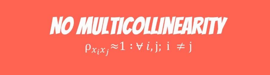 No multicollinearity formula