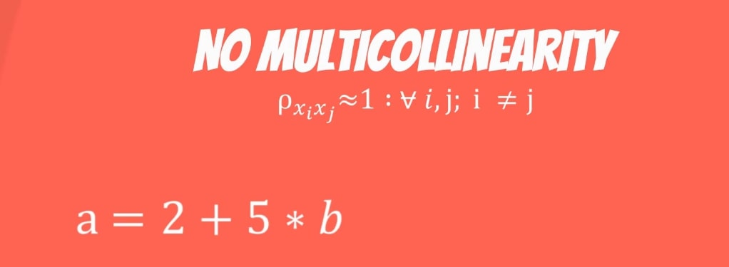 No multicollinearity: formula and equation