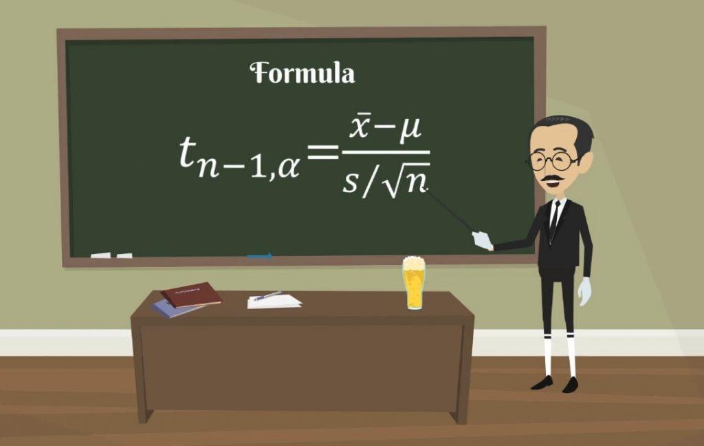 Formula, student's T distribution