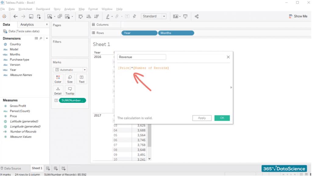 formula check, custom fields in tableau