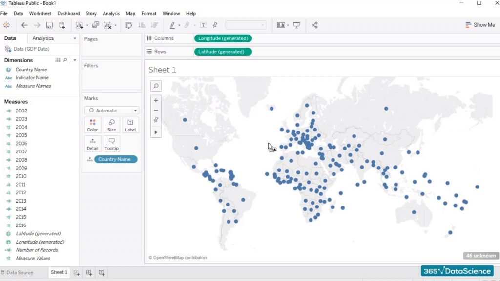tableau-gdp-world map