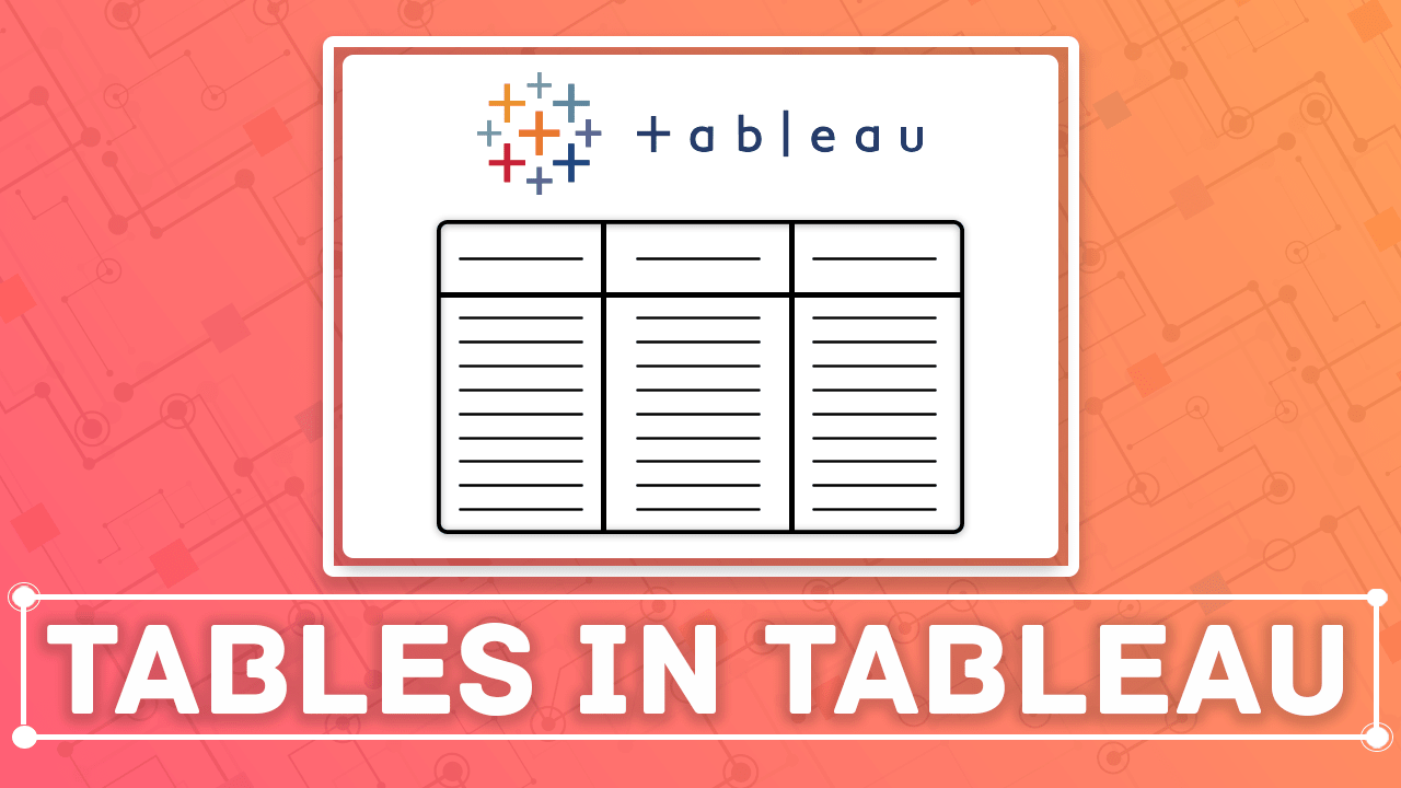 tables in tableau