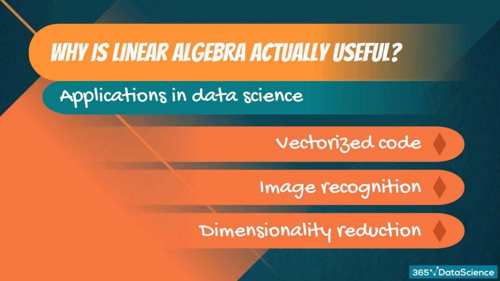 linear algebra in data science