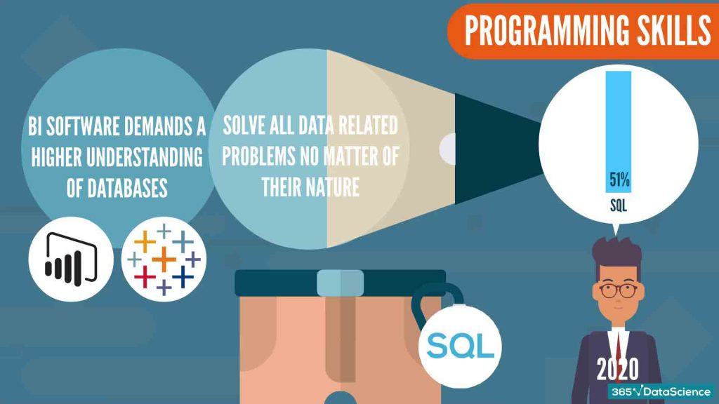 programming skills, sql