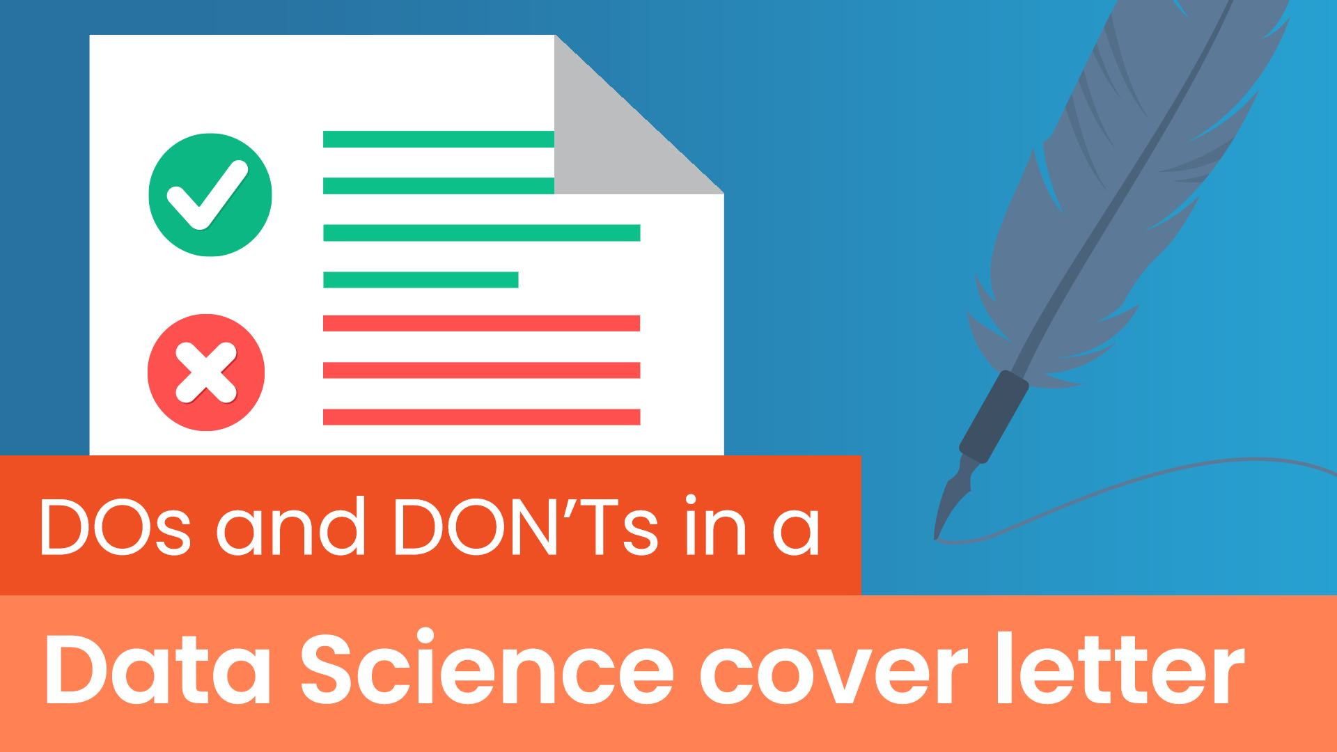 data science cover letter dos and don'ts , dos and don'ts in a data science cover letter, data science cover letter tips