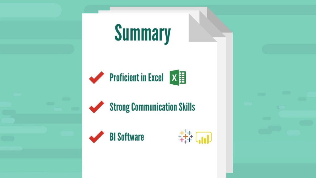 Business analyst summary of job requirements