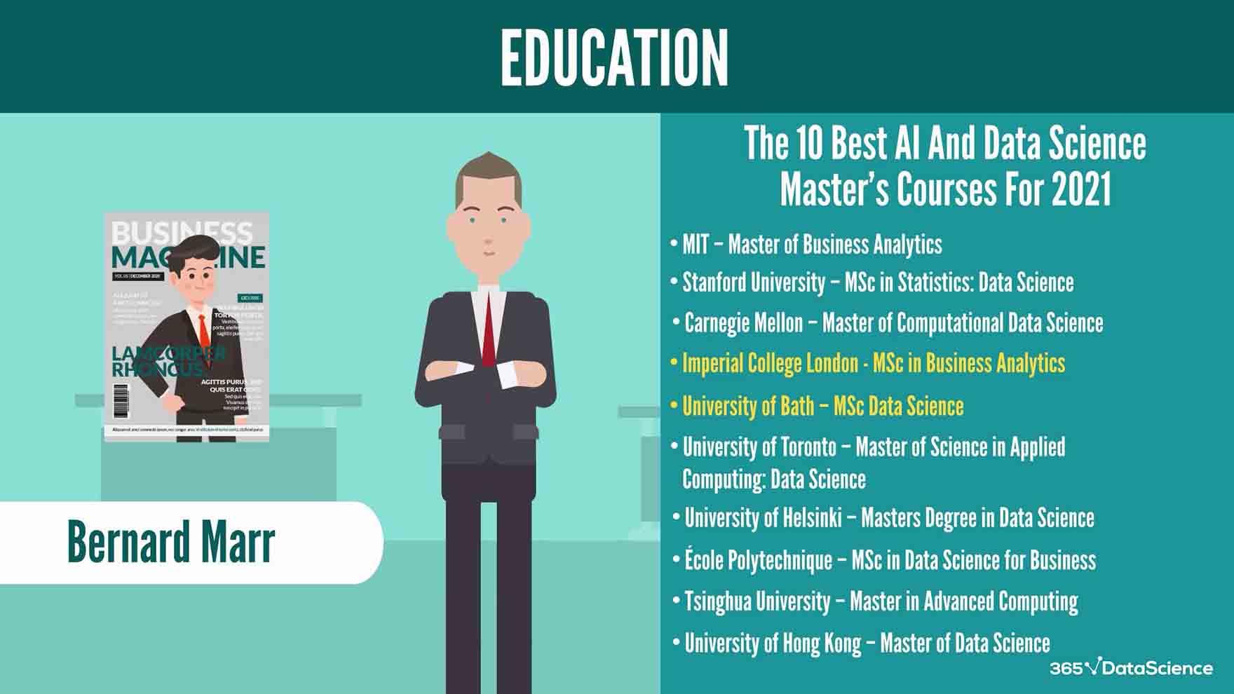 Best data science degree programs, according to Bernard Marr
