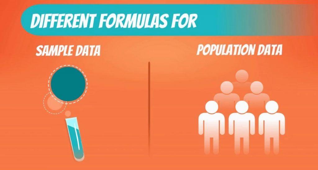 Different formulas-variability, coefficient of variation