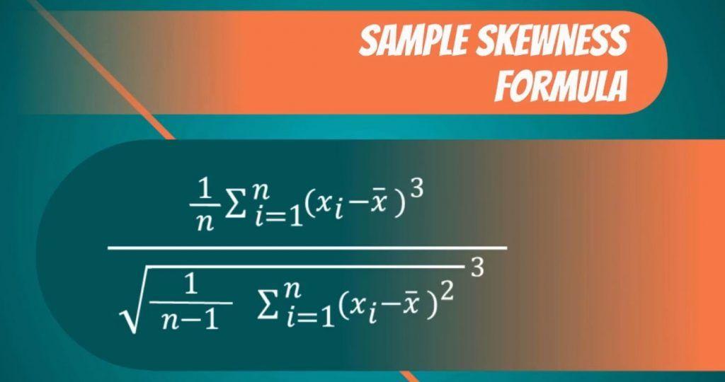 Sample skewness formula