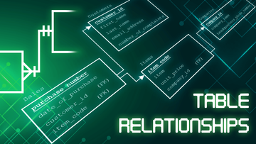 Relationships between Tables in SQL