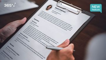 New! Prepare Your Job-Application in Minutes with the 365 Resume Builder