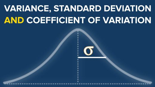 Measures of Variability: Coefficient of Variation, Variance, and Standard Deviation