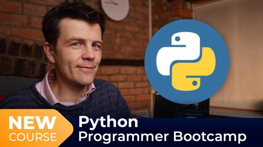 New Course! The Python Programmer Bootcamp with Giles McMullen-Klein