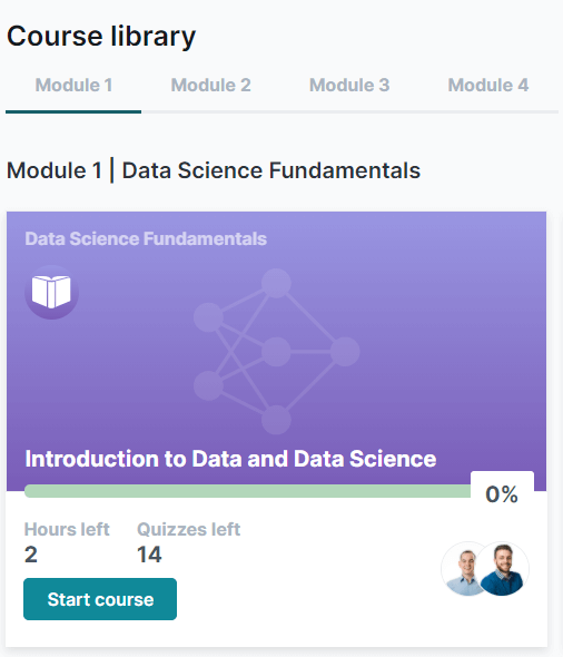 Module 1 in Course Library screenshot