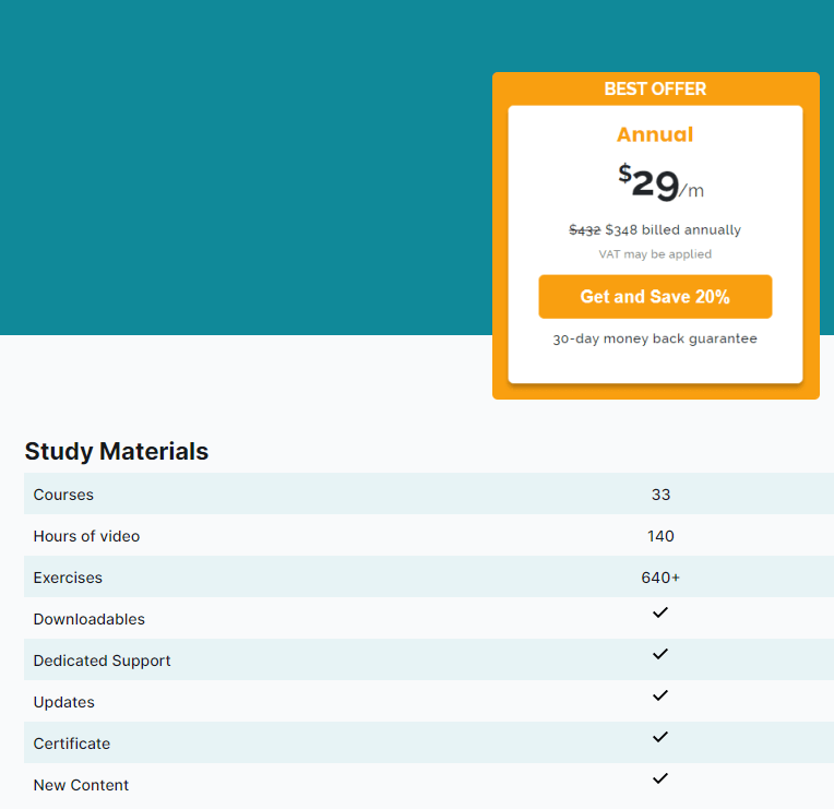 Upgrade options screen with best offer